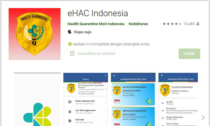 eHAC Kementerian Kesehatan